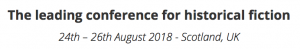 The leading conference for historical fiction